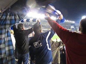 Fans at Bruges 20 Oct 2011
