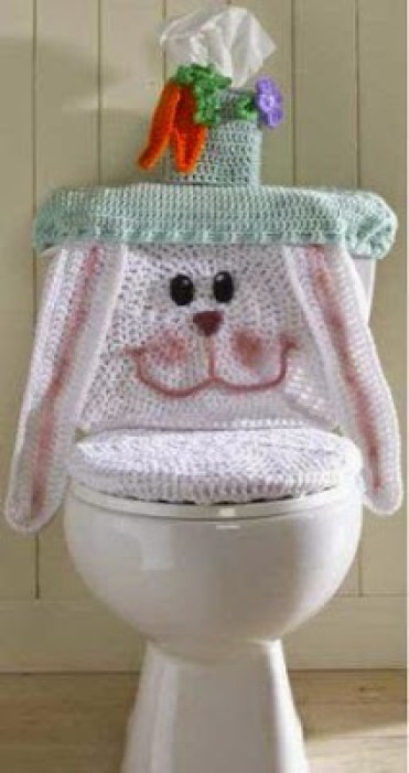 Easter bunny toilet