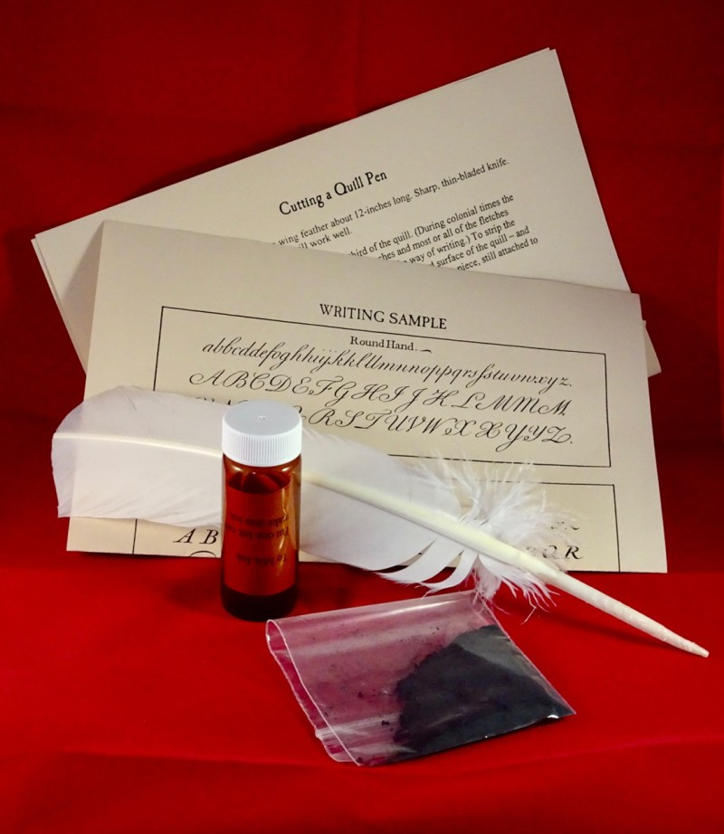 colonial quill pen ink kit claude moore colonial farm