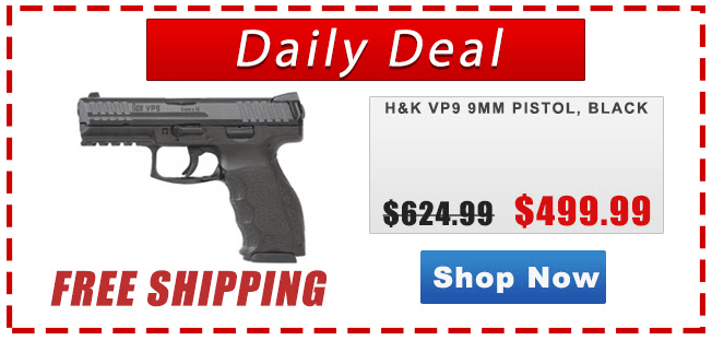 H&K VP9, pistol, 9mm, SHTF, sale, best price, great deal