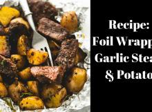 Steak, potato, recipe, foil, camping