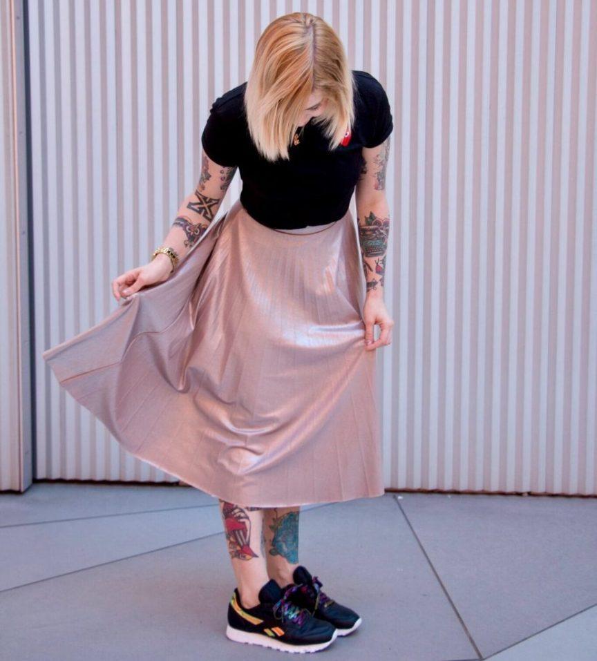 Matilda Anton sneakers and dress