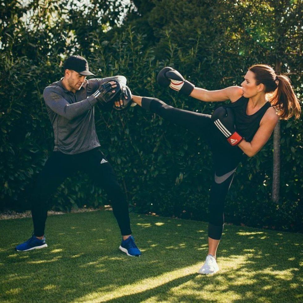 Bradley Simmonds training Toni Terry kick boxing