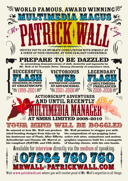 Patrick Wall's CV