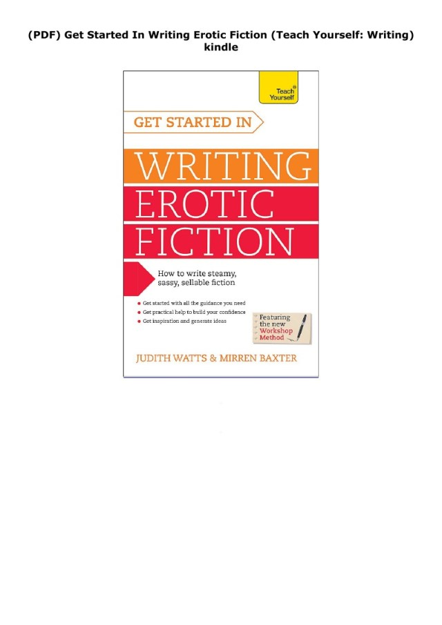 PDF) Get Started In Writing Erotic Fiction (Teach Yourself