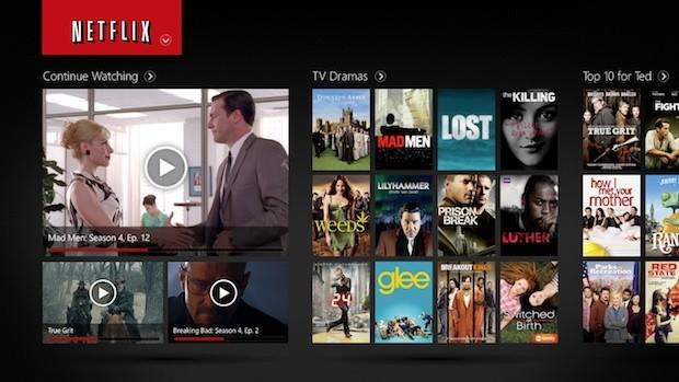 Microsoft And Netflix Show Off Netflix App For Windows 8