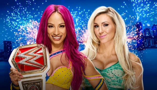 Image result for Sasha Banks defending RAW Women's Championship against Charlotte inside Hell In A Cell