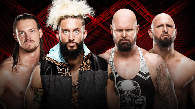 Image result for Enzo Amore & Big Cass vs. The Club   hell in a cell