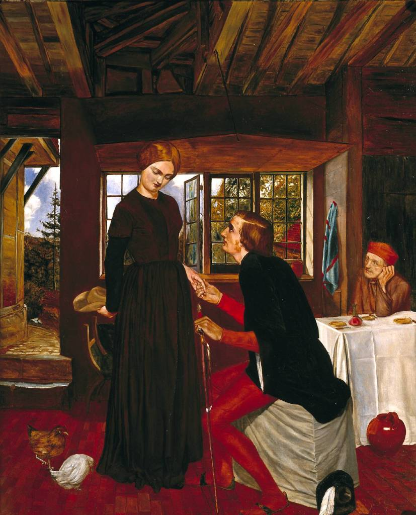 The Proposal (The Marquis and Griselda) circa 1850 by Frederic George Stephens 1828-1907