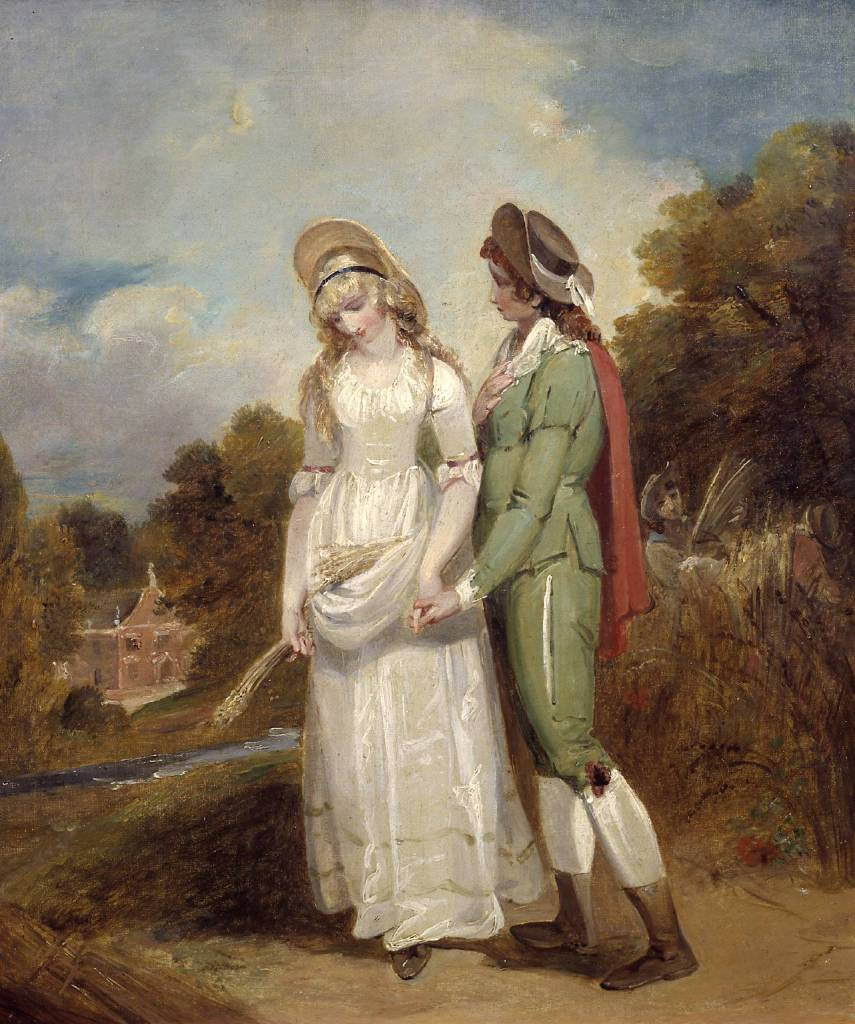 Palemon and Lavinia circa 1792 by Henry Singleton 1766-1839