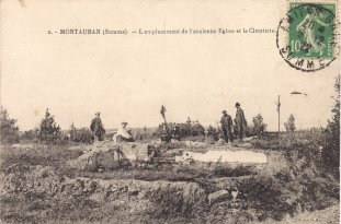 Montauban Church and Cemetery 1916. Courtesy Caroline Scott