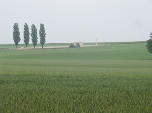 Guillemont Road Cemetery viewed from Trones Wood