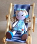 Image: picture of Vintage Vinnie ragdoll sat in a deckchair
