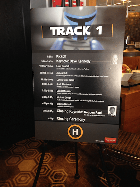 Opening & Closing Keynotes along with the day's agenda at HouSecCon