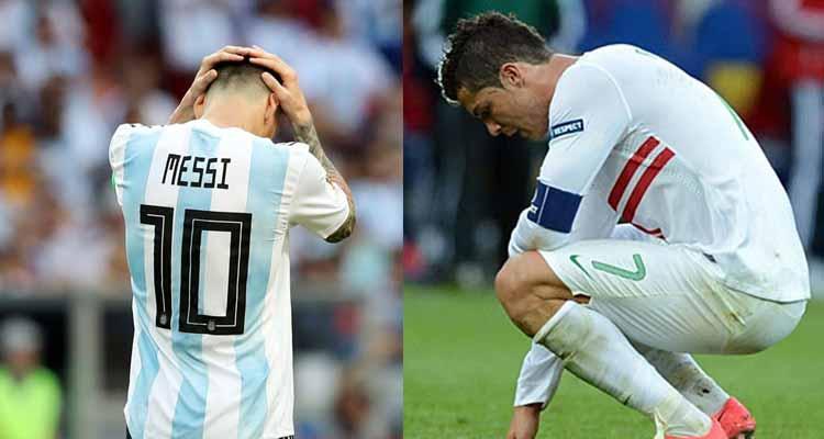 Messi y Cristiano eliminados del mundial en el mismo día