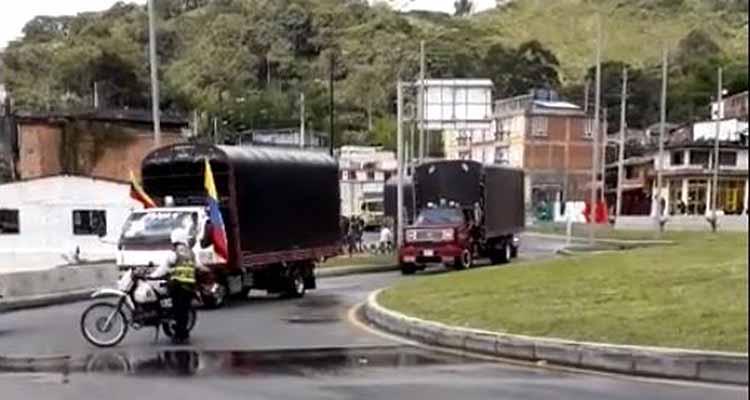 protesta camioneros Quindio diciembre 2018