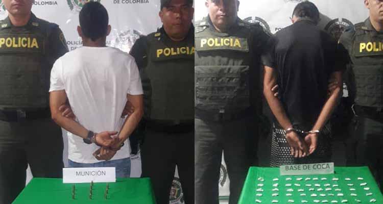Capturados en Montenegro con municiones y drogas