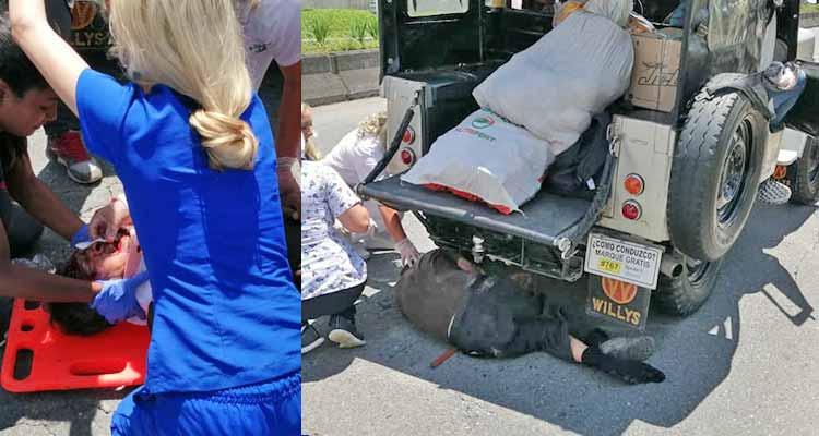 Adulto mayor herido tras ser arrollado por un jeep