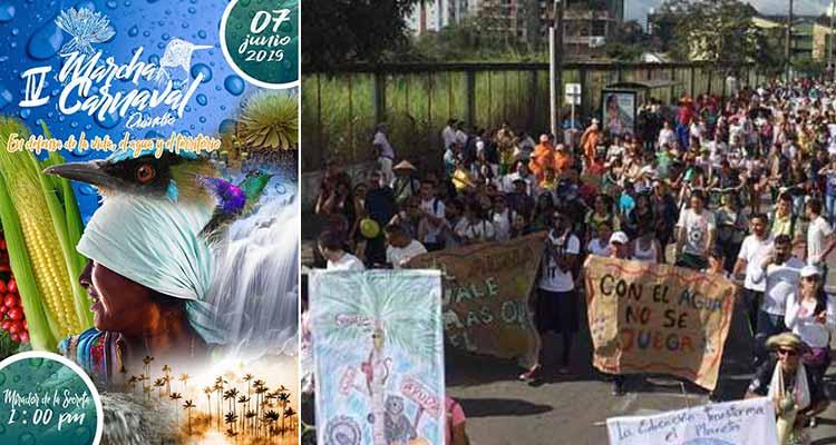Marcha Carnaval por el agua la vida y el territorio