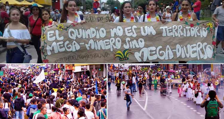 Marcha Carnaval por la vida, el agua y el territorio