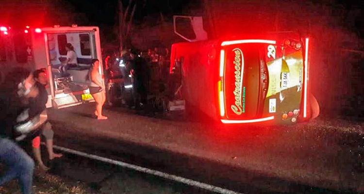 accidente buseta Quimbaya - Montenegro
