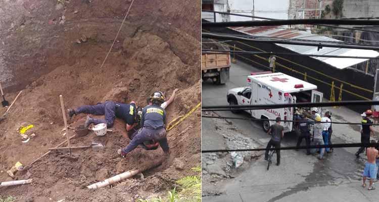 muerto herido deslizamiento tierra obra Armenia