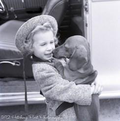 """Happy"" Henkel, dog of CV and Mimi Henkel, held by one of the nieces"