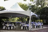 Tent with patio lights