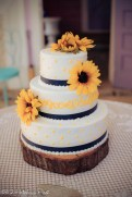 Sunflowers and navy