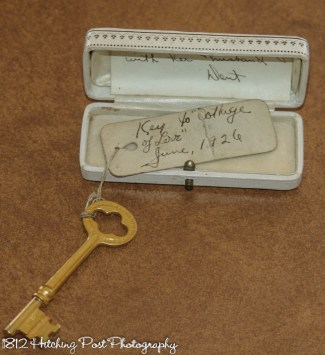 The original key to the honeymoon cottage from 1850