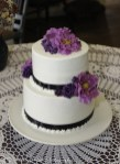 Purple and black on cake