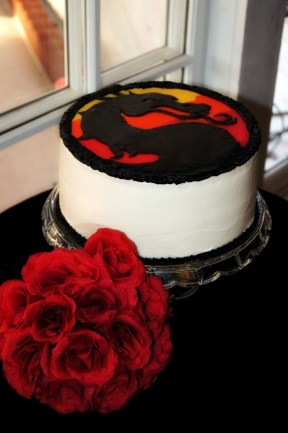 Mortal Kombat Groom's cake
