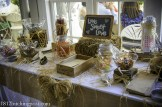 Rustic burlap candy bar