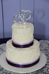 Swirl Cake with lilac and deep purple ribbon