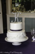 Fondant leaf wrap on wedding cake