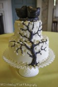 Tree iced on wedding cake
