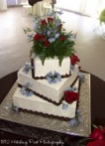 Offset square wedding cake