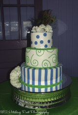 Green and turquise cake