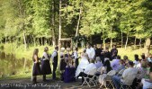 Ceremony by lake