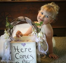 Cute flower girl basket