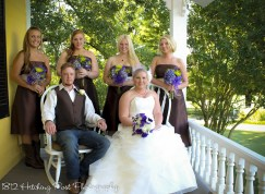 Bridesmaids and bridesman