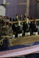 Wine display at bar
