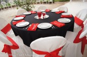 Red Napkins and Chair sashes