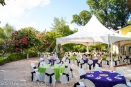 Lime and Deep purple overlays with black sashes