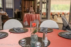 Coral and gray reception