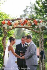 Coral Navy Outdoor Wedding-15