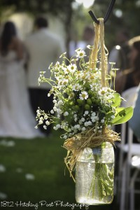 Wildflowers in mason jar