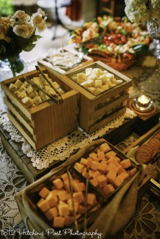 Rustic display with cheese