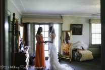Bride's room sharing a moment