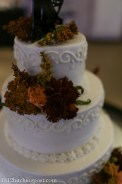 Pretty piping on fall cake